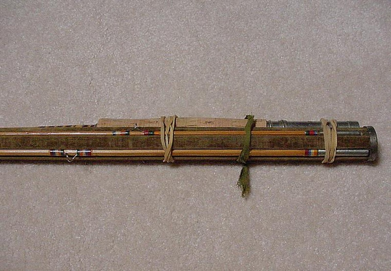 A classic antique bamboo fly rod shakespeare model 3315 for Antique bamboo fishing rods